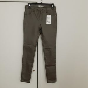 Gloria Metallic Mid Rise Coated jeans 27